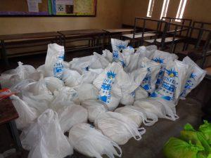 Packages of 10Kg maize flour.